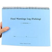 Large Parking Violation Final Warnings Issued Log Book