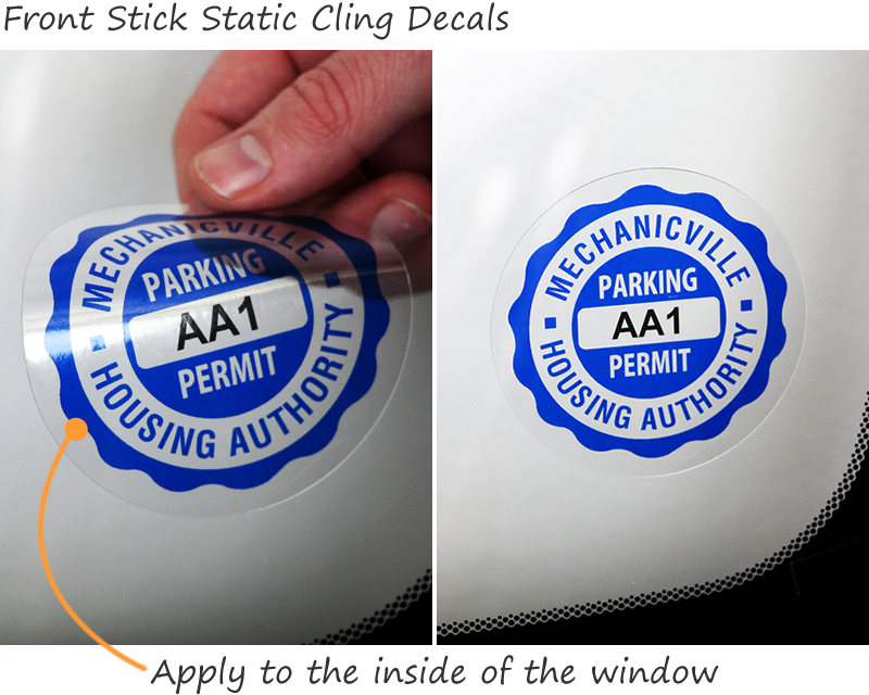 Static Cling Parking Decals