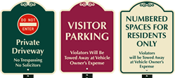 24 Inch x 18 Inch Parking SignatureSign