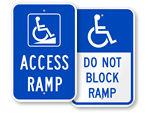Access Ramp Signs