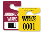 Authorized & Reserved Parking