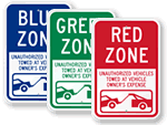 Color Coded Parking Permit / Parking Lot Signs
