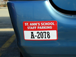Custom Parking Permit Bumper Stickers