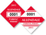 Diamond Window Parking Decals