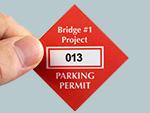 Diamond Parking Decals
