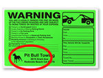More Custom Parking Violation Sticker Designs