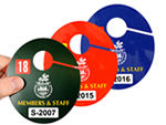 Oval Parking Hang Tags