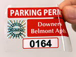 Parking Decals with Security Holograms