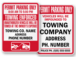 Permit Parking Only Signs