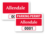 Rectangle Window Parking Decals