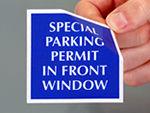 Special Parking Permit Sticker