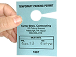 Temporary Parking Passes