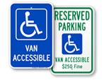 Van Accessible Signs