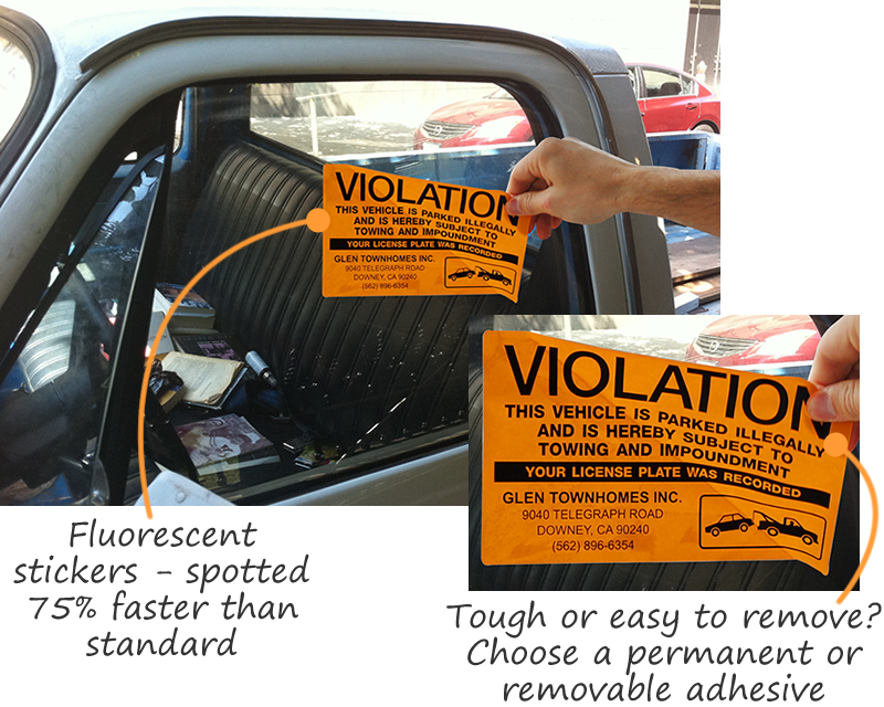How To Remove Stickers From Car Window >> No Parking Stickers Ship Free From Myparkingpermit
