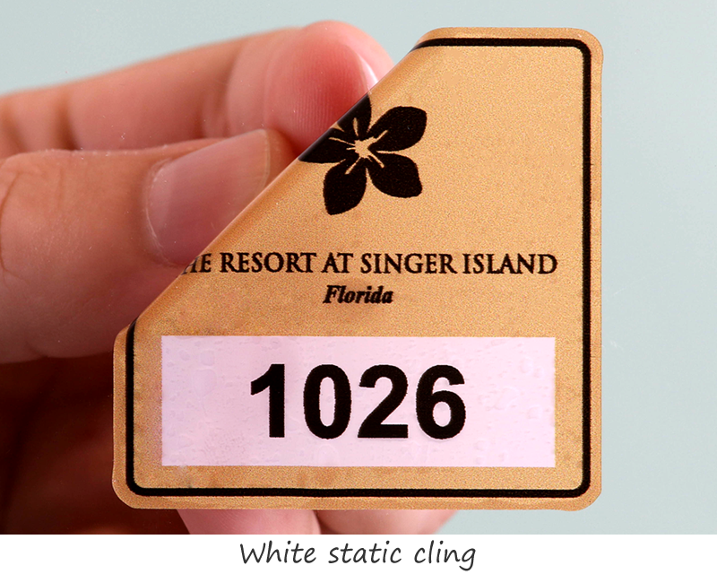 Permit sticker · static cling labels for windows