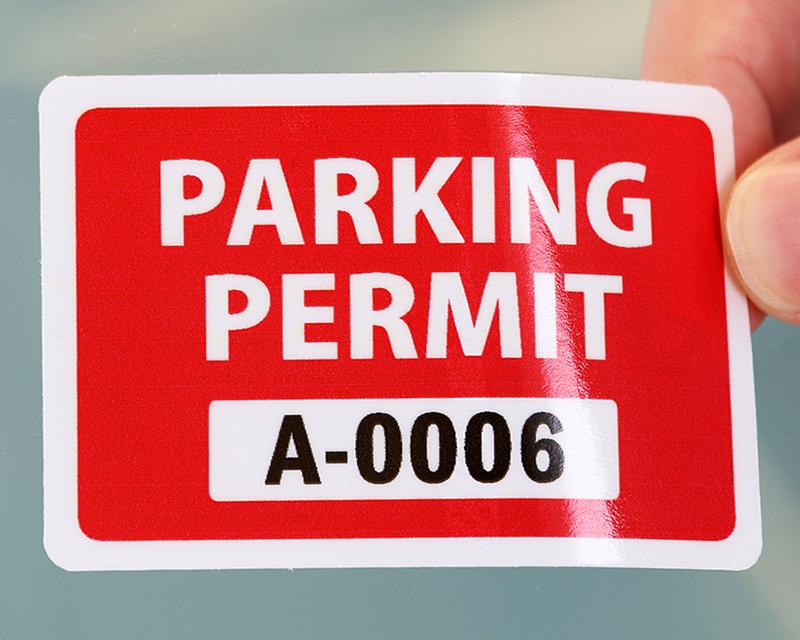 ... Stock parking permit sticker