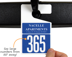 Apartment parking tag