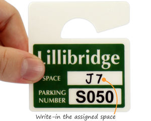 Assigned parking space permit
