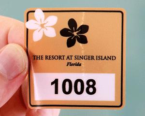 Beach parking pass sticker