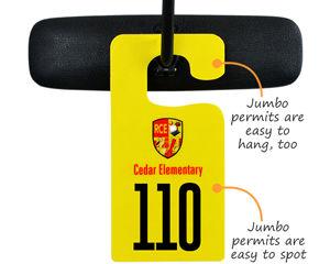 Big parking permit hang tags