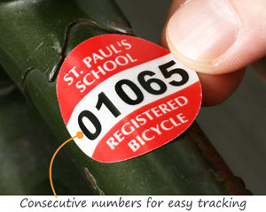 Bike permits with numbers