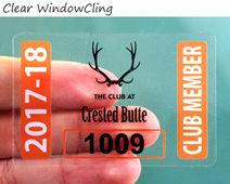Clear windowcling parking sticker