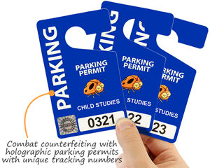 Combat counterfeiting with holographic parking permits