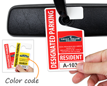 Custom parking hang tags