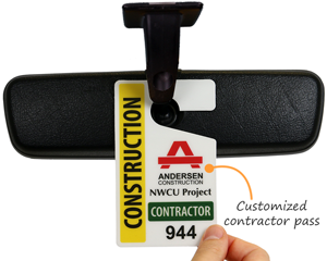 Custom parking permit for contractors