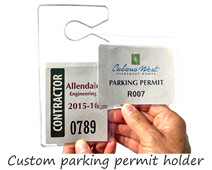 Custom parking permit holder