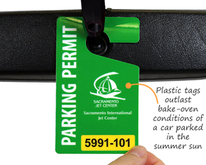 Custom parking tags for airports