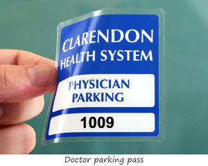 Doctor parking pass