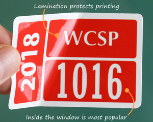 Durable parking permit stickers