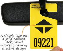Effective parking tag design