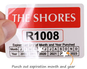 Expiration date parking pass