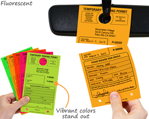 Fluorescent temporary permits