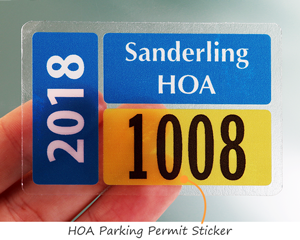 HOA Parking Permit Sticker