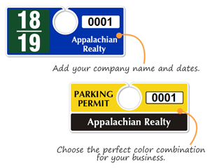 Plastic ToughTags™ Horizontal Parking Permit