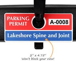 Horizontal Size Parking Permit Hang Tags