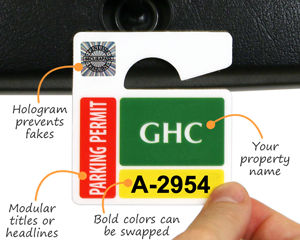 How to design a parking permit tag