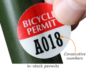 In-stock bike permits