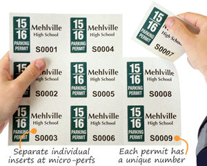 Laser printable parking permits