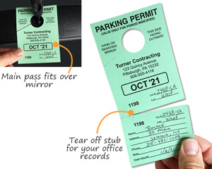 Tear off stub for your office records