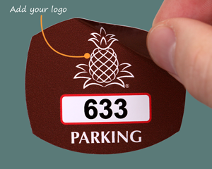 Oval parking sticker with your logo