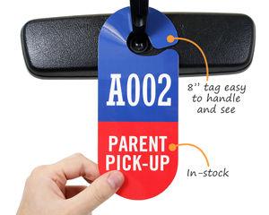 Parent pick up tag