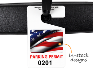 Parking hang tags with photos