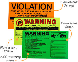 Illegal parking stickers