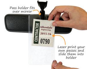 Parking pass holder