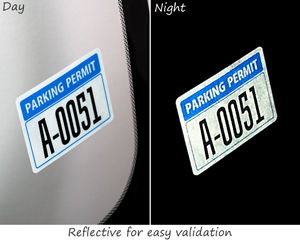 Parking permit decal