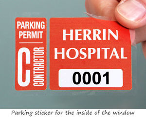 Parking permit for a hospital